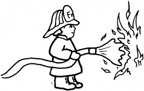 Fireman Hat Coloring Page Miakenasnet